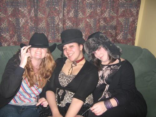 top hat, cowboy hat, fuzzy russian hat