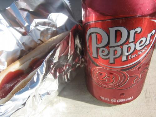 Dr. Pepper, polish sausage