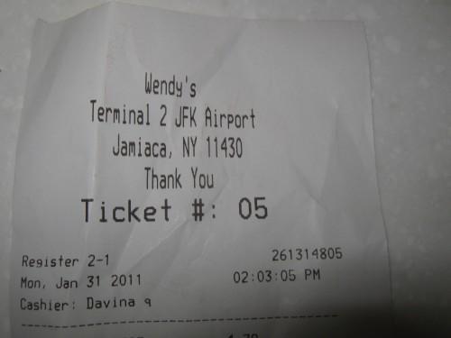 Wendy's at JFK