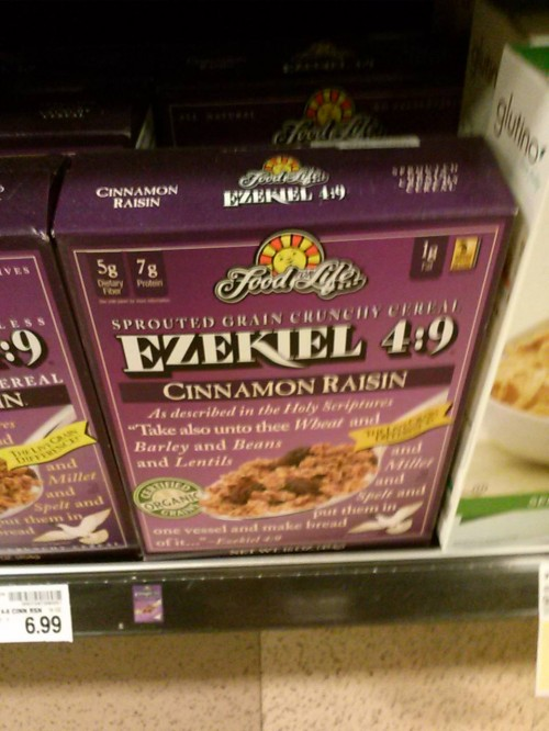 And you will know my name is the Lord, for this cereal shall be delicious.